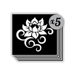 pochoir lotus arabesque