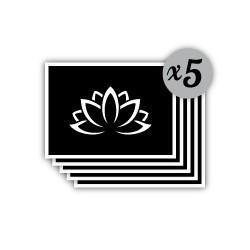 pochoir fleur de lotus