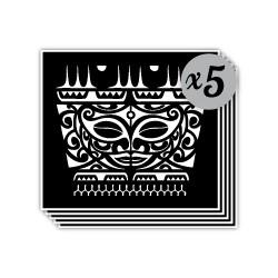 pochoir masque maori