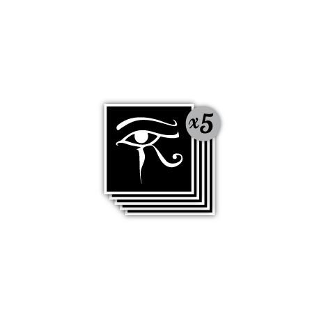 Lot De 5 Pochoirs Oeil D Horus Pour Tattoo Temporaire Pochoir Tattoo
