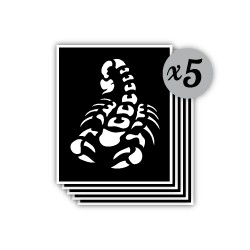 pochoir scorpion