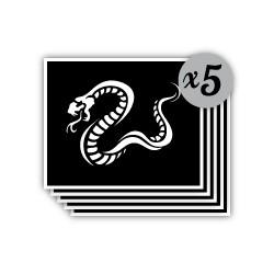 pochoir serpent