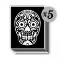 pochoir tête de mort mexicaine