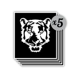 pochoir tête de tigre