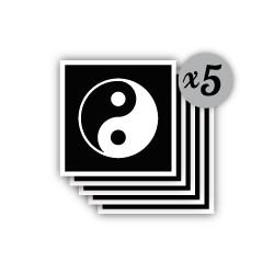 pochoir yin yang