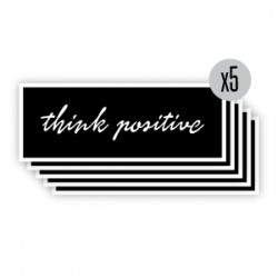 pochoir think positive