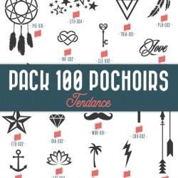 Pack 100 pochoirs