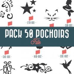Pack 50 pochoirs