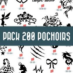Pack 200 pochoirs