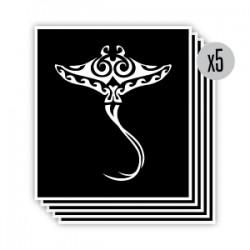 pochoir raie maori