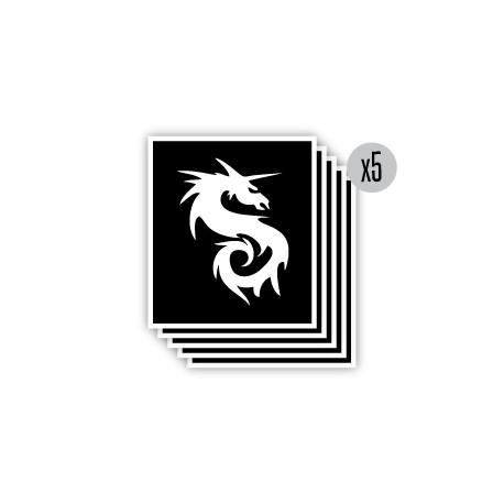 pochoir dragon licorne