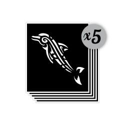 pochoir dauphin maori