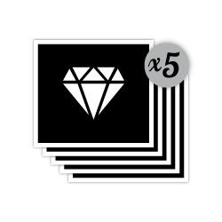 pochoir diamant
